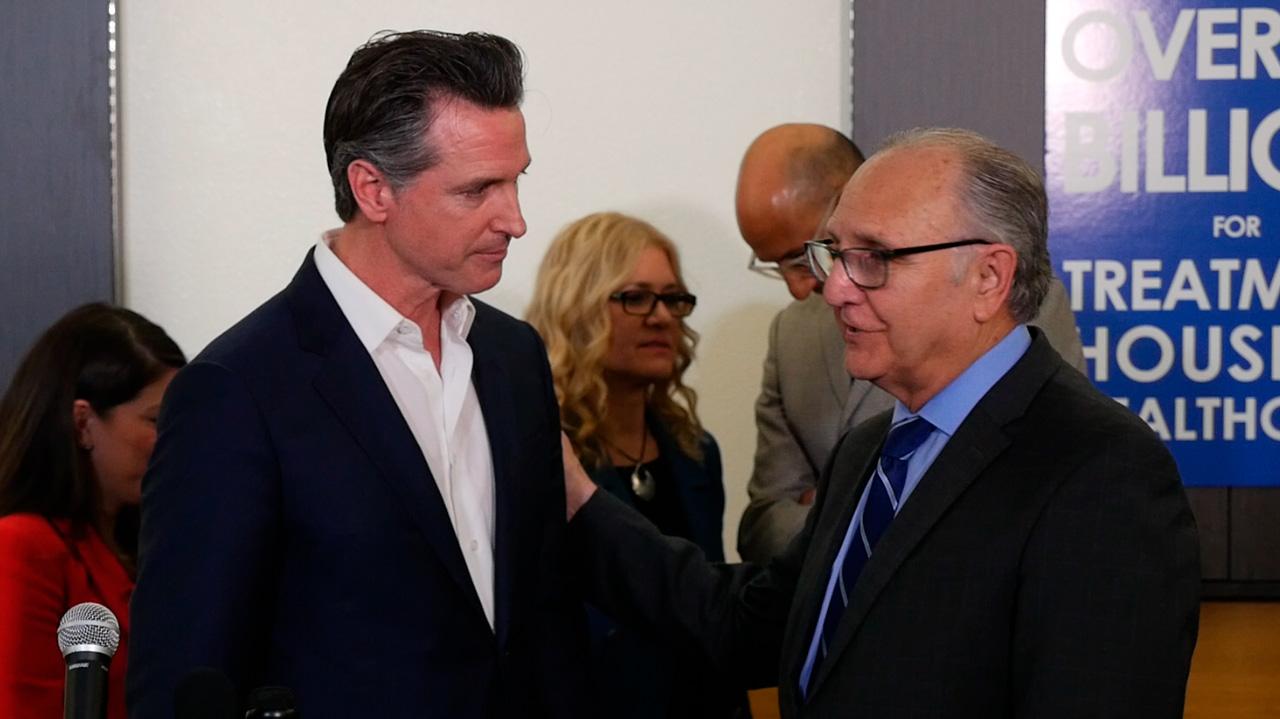 Photo of Gov. Gavin Newsom and Fresno Mayor Lee Brand