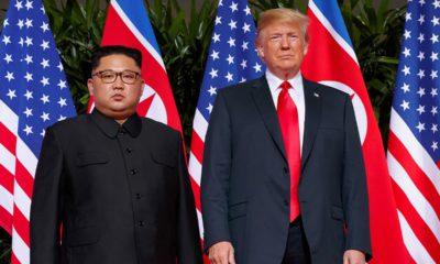 Photo of Kim Jong Un and President Donald Trump