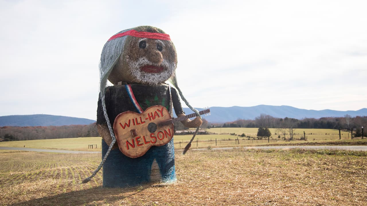 Photo of 'Will-Hay Nelson' hay sculpture
