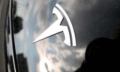 Photo of Tesla hood and logo