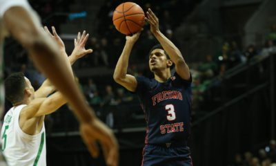 Photo of Fresno State's Jarred Hyder launching a shot