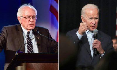 Photo combination of Sen. Bernie Sanders and former Vice President Joe Biden
