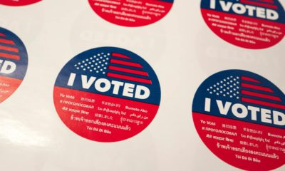 """Photo of """"I Voted"""" stickers"""