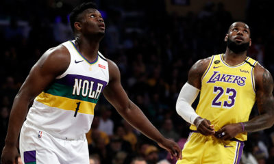 Photo of Zion Williamson and LeBron James