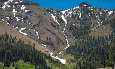 Photo of snow on mountains