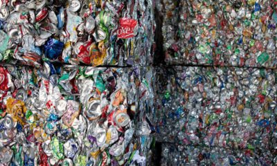 Photo of crushed cans