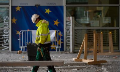 Photo of a construction worker in Brussels