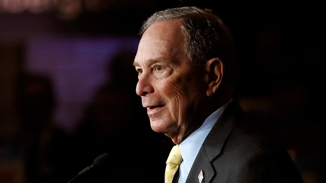 Photo of Democratic presidential contender Michael Bloomberg