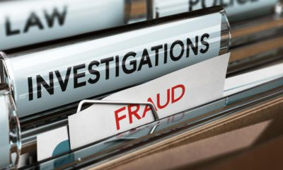 Photo of files on investigations and fraud