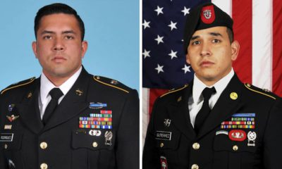 Photo of Sgt. 1st Class Antonio R. Rodriguez and Sgt. 1st Class Javier J. Gutierrez