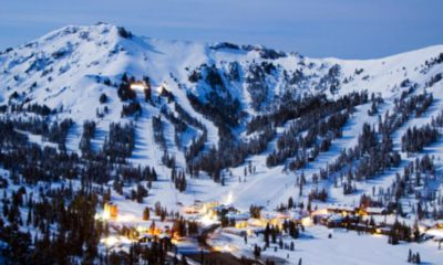 Photo of snow-covered Kirkwood Mountain and ski resort