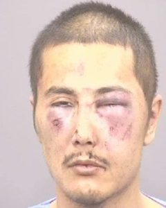 Photo of Jose Ramos who got beaten up after stabbing a man in the neck