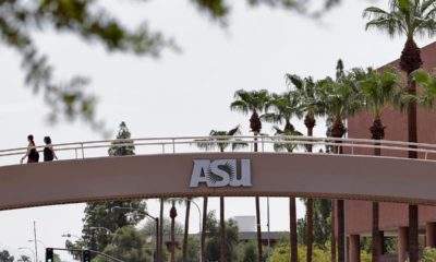 Photo of a bridge on the campus of Arizona State University