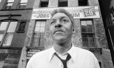 Photo of Bayard Rustin, leader of the March on Washington in 1963