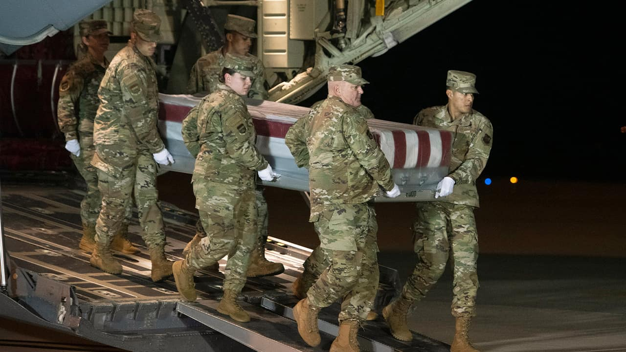 Photo of an Air Force carry team