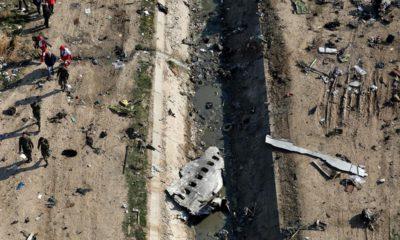 Photo of the scene where a Ukrainian plane crashed in Shahedshahr, southwest of Tehran, Iran