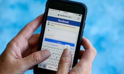 Photo of the Facebook app on an iPhone