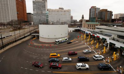 Photo of U.S.-Canadian border in Detroit