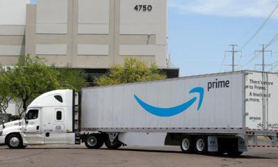 Photo of an Amazon truck