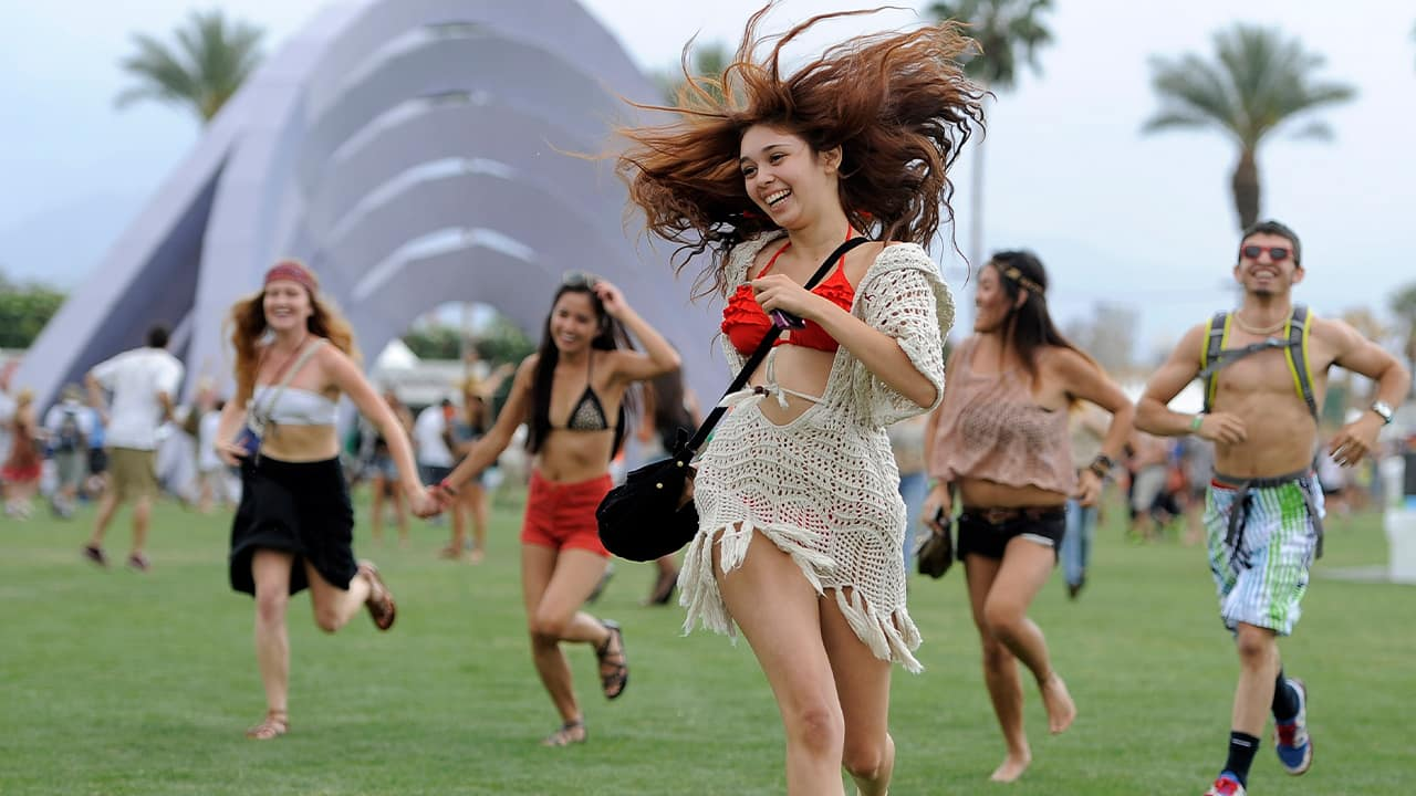 Photo of people at Coachella in 2012