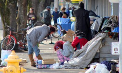 Photo of homeless people in Salem, Ore.