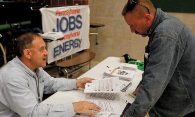 Photo of a job fair in Cheswick, Pa.