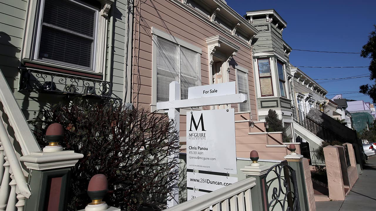 Photo of a real estate sign in San Francisco