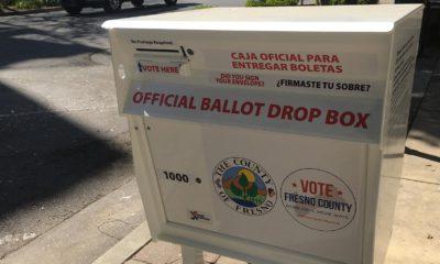 Photo of a ballot box in Fresno