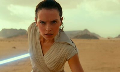 """Photo of Daisy Ridley as Rey in a scene from """"Star Wars: The Rise of Skywalker."""""""