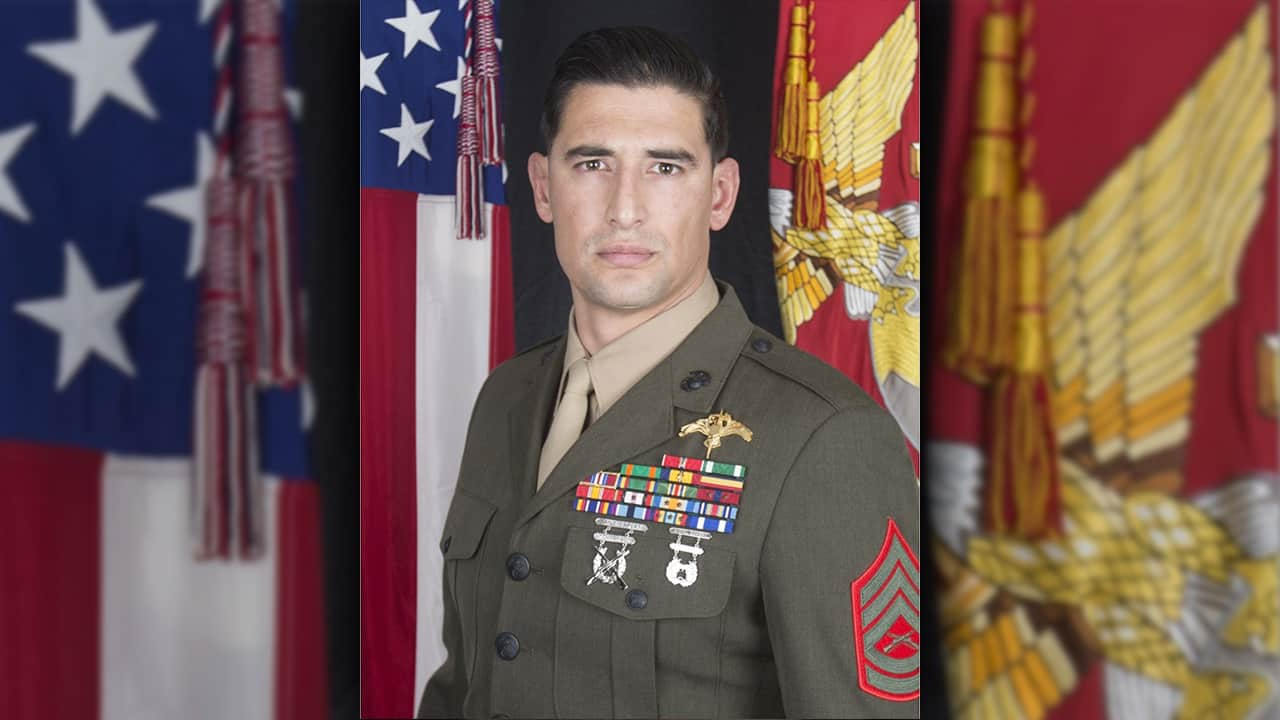 Photo of Special Operations Command shows Gunnery Sgt. Diego D. Pongo