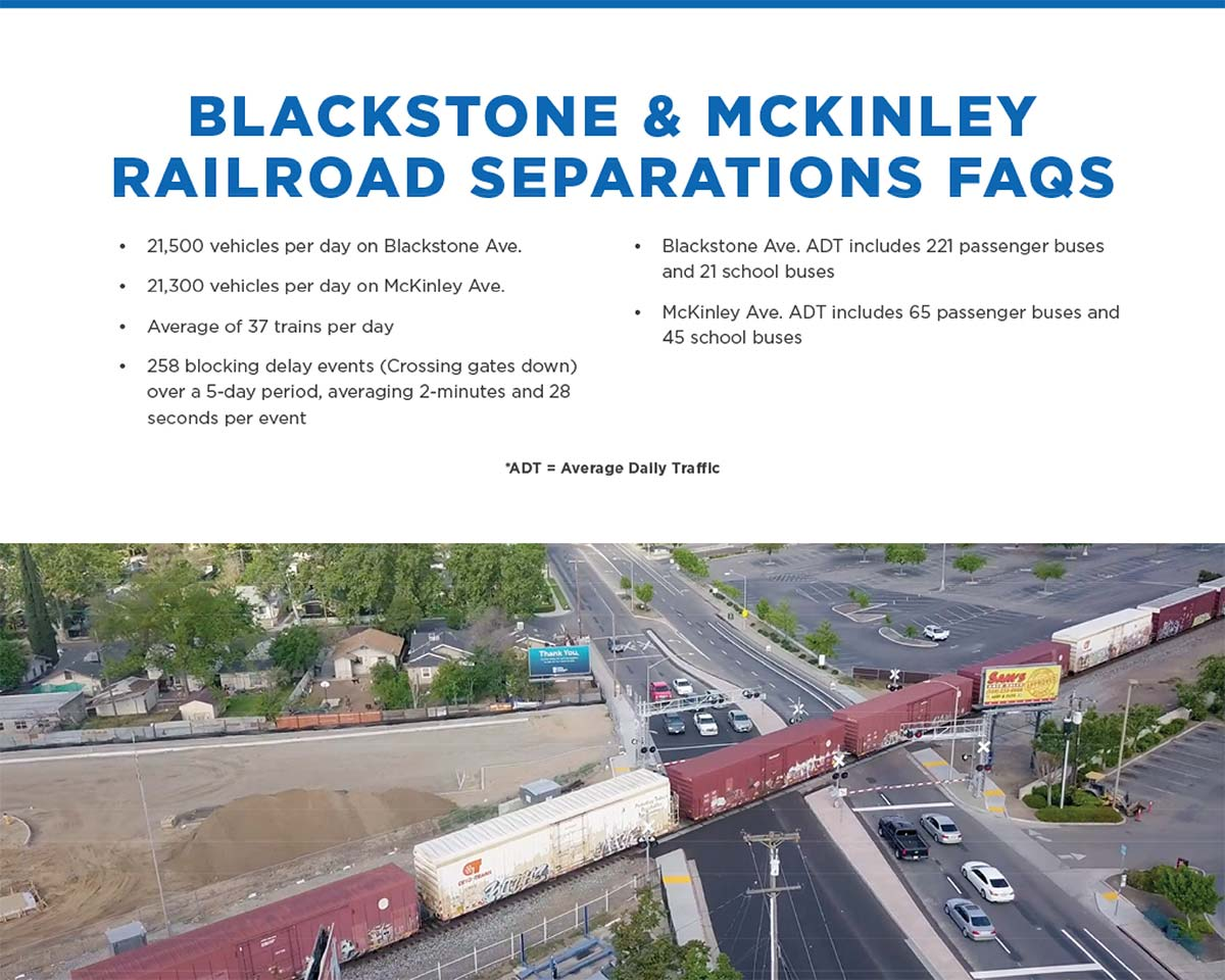 Graphic of Blackstone/McKinley grade separation FAQs