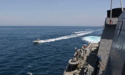 Photo of Iranian Revolutionary Guard vessels