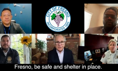 Collage of Fresno area leaders with COVID-19 message