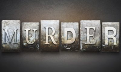 """Photo illustration of the word """"murder"""""""