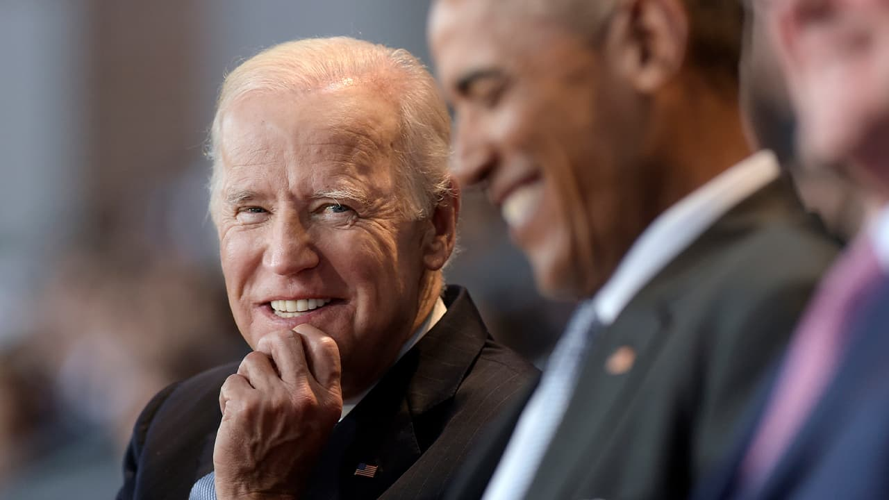 Photo of Joe Biden and Barack Obama