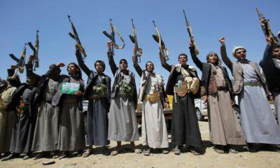 Photo of Houthi tribesmen