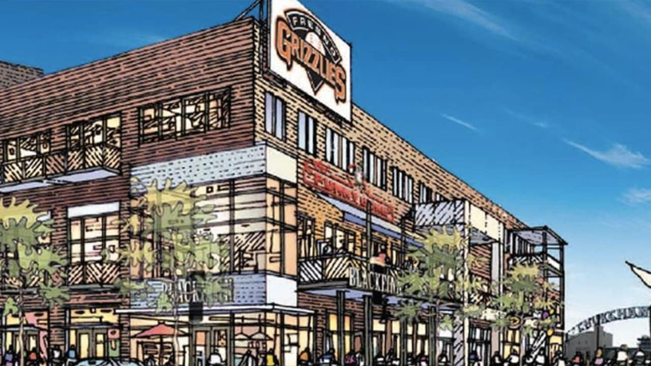 Rendering of what developers proposed to build at the south end of Fulton in downtown Fresno