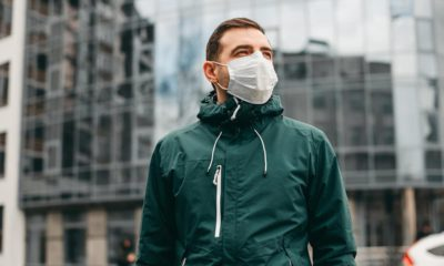 Photo of a man wearing a face mask
