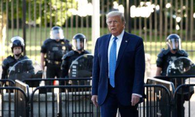 Photo of President Trump in Lafayette Park