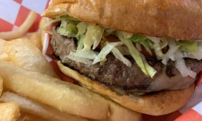 Photo of a hamburger and fries from Colorado Grill in Fresno, California