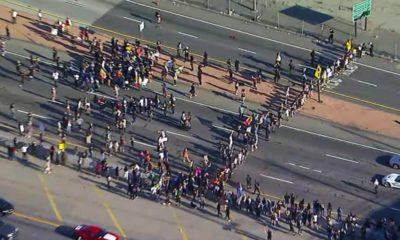 Photo of a Black Lives Matter protest in LA