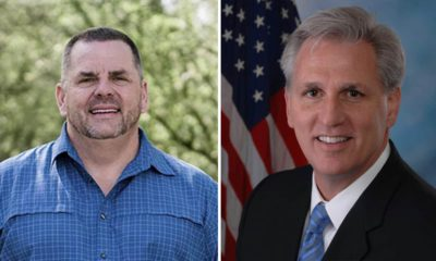side by side images of Ted Howze and Kevin McCarthy