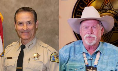 Photos of Tulare County Sheriff Mike Boudreaux and Merced County Sheriff Vern Warnke