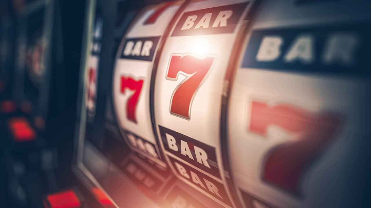 Photo of a slot machine close up