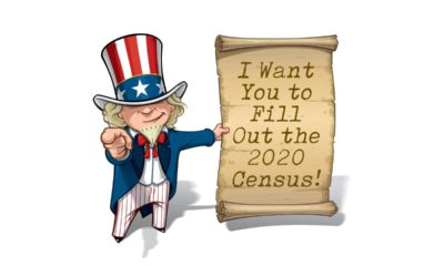 I want you Uncle Sam poster modified to reflect urgency of completing 2020 census form