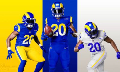 Photo of the new Rams uniforms