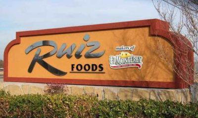 Photo of Ruiz Foods sign