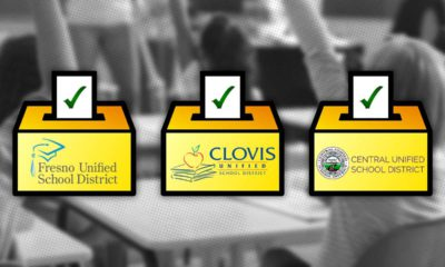 Image of side-by-side ballot boxes marked Fresno Unified, Clovis Unified, and Central Unified