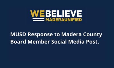 """Image of Madera Unified School District motto """"We Believe)"""