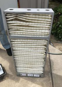 Image of a high-efficiency particulate air filter